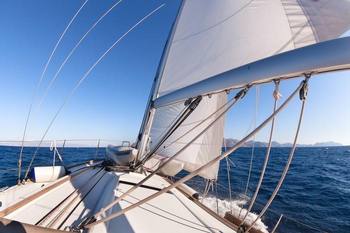 Vinylová Tapeta Plachetnice široký úhel pohledu v moři - Lodě