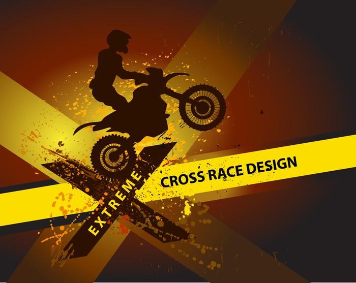 motocross background design with grunge element and place. Black Bedroom Furniture Sets. Home Design Ideas