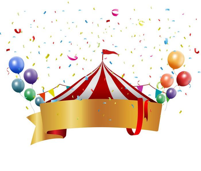 fototapete circus hintergrund mit ballons und konfetti pixers wir leben um zu ver ndern. Black Bedroom Furniture Sets. Home Design Ideas
