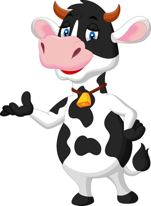 Vinylová Tapeta Roztomilý kráva animovaný prezentaci - Nálepka na stěny