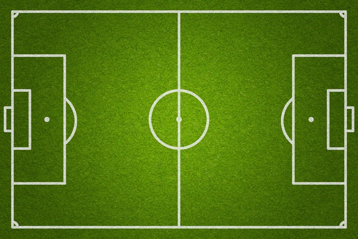 Soccer Or Football Field Top View Wall Mural • Pixers