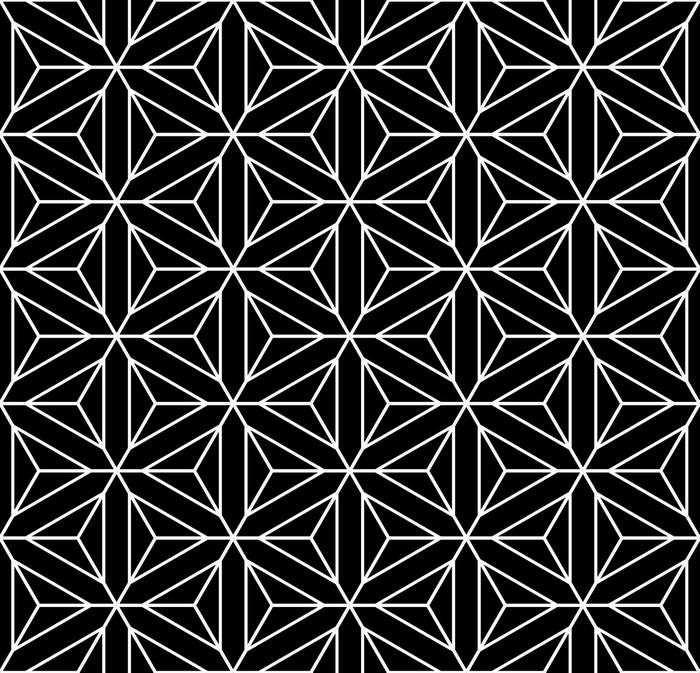 Estremamente Carta da Parati Seamless texture geometrica. Esagoni, diamanti  FO95