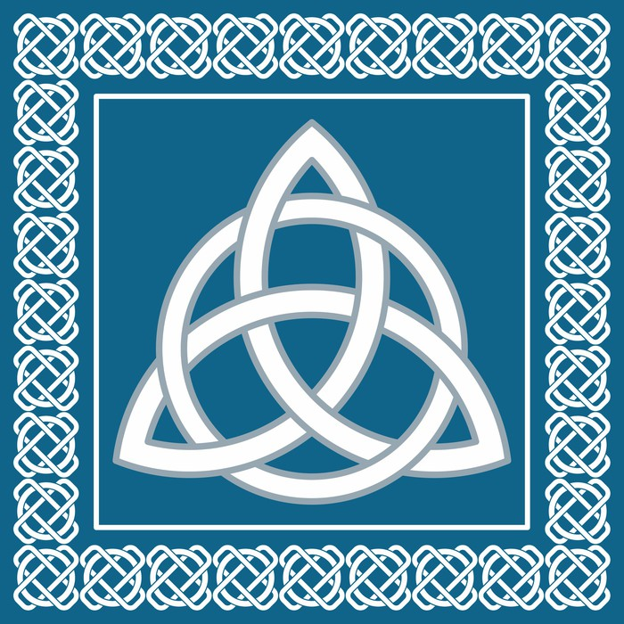 Ancient Symbol Triskel Traditional Celtic Knotvector Wall Mural