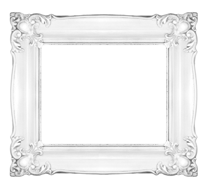 White baroque frame Wall Mural • Pixers® • We live to change