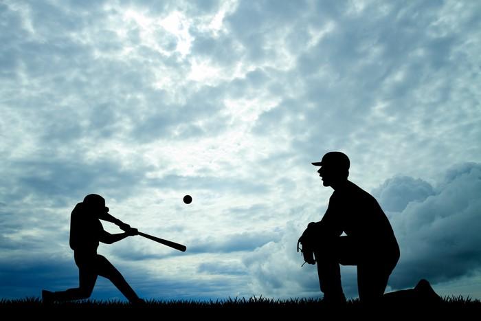 Vinylová Tapeta Baseball při západu slunce - Zápasy a soutěže