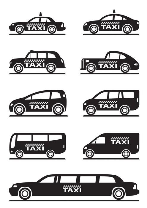 papier peint motifs diff rents types de voitures de taxi. Black Bedroom Furniture Sets. Home Design Ideas
