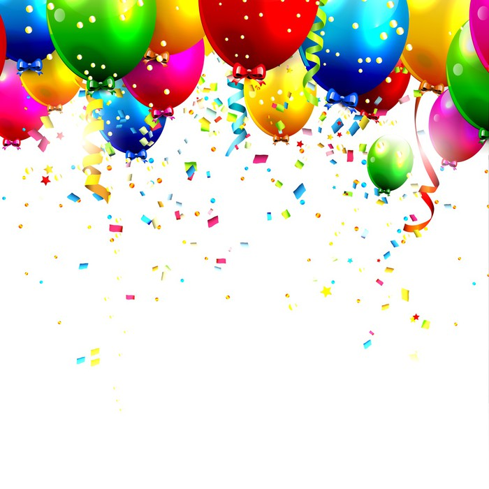 fotomural globos y confeti coloridas del cumplea u00f1os happy birthday song clipart happy birthday son clipart free