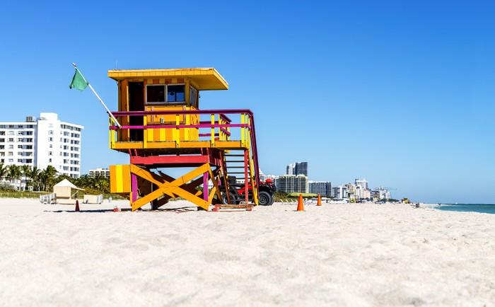 Vinylová Tapeta Plavčík věž, Miami Beach, Florida - Amerika