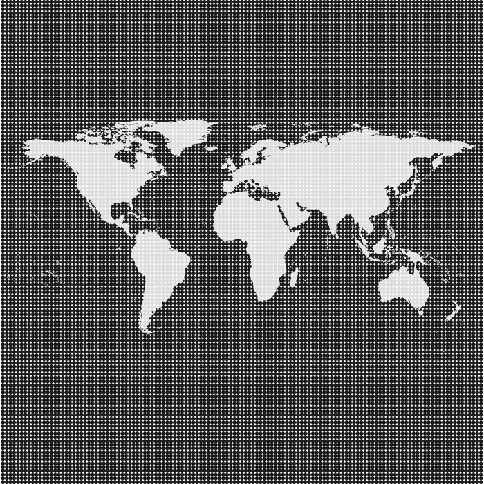 Black world map vector wall mural pixers we live to change black world map vector vinyl wall mural accesories and objects gumiabroncs Images