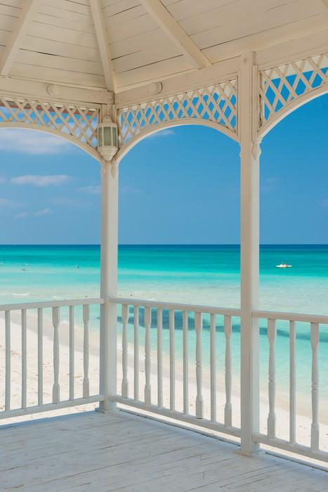 Vinylová Tapeta Pohled na pláži Varadero na Kubě z romantické terase - Amerika