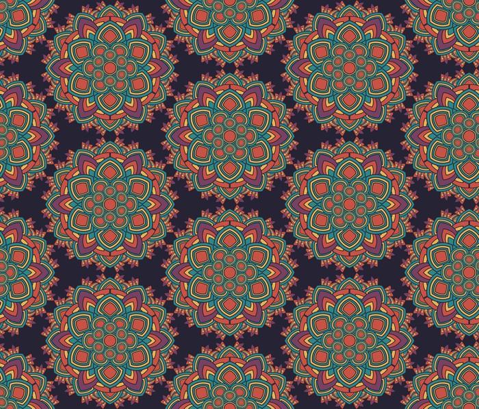 Vinylová Tapeta Bezproblémová geometrický vzor radiální - Pozadí