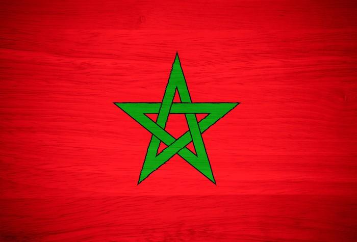 Papier peint drapeau du maroc sur la texture du bois - Drapeau du maroc a imprimer ...
