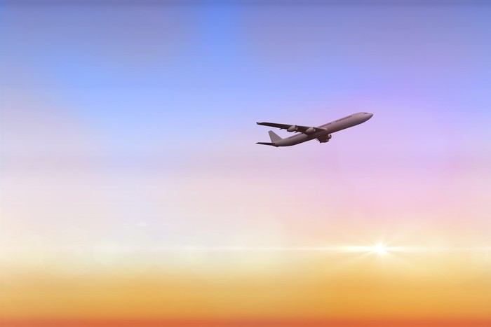 Vinylová Tapeta Kompozitní obraz grafického letounu - Vzduch