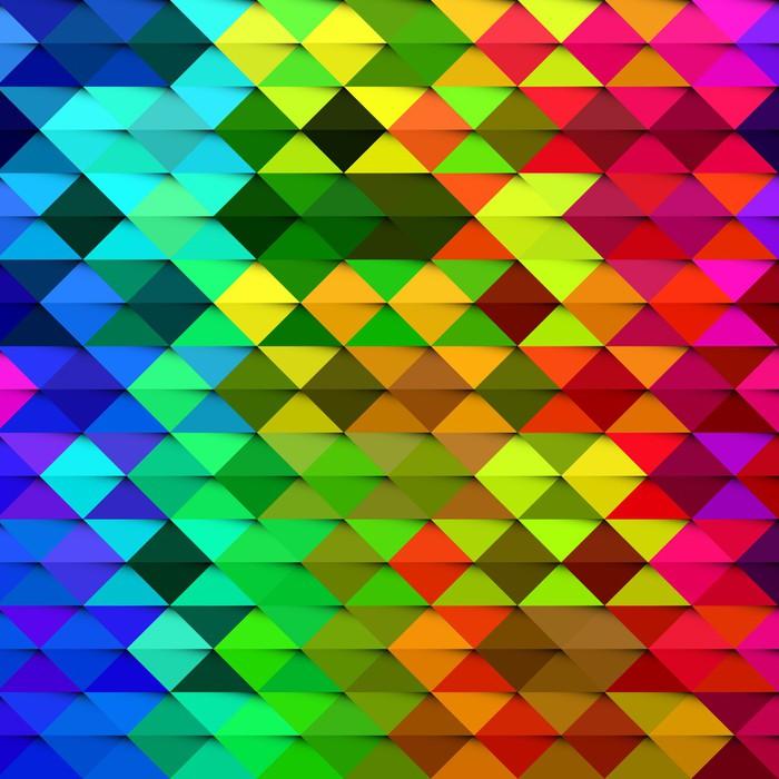 Nálepka Pixerstick Abstraktní barevné geometrické tvary pozadí - Pozadí