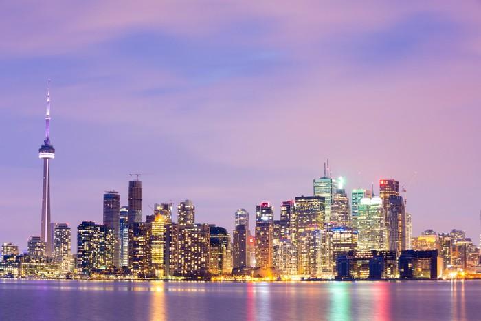 Mural de Parede em Vinil Toronto Skyline at dusk - América