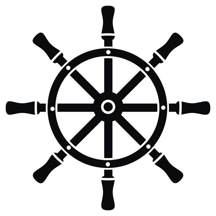 Papier peint Gouvernail - symbole • Pixers® - Nous vivons pour changer