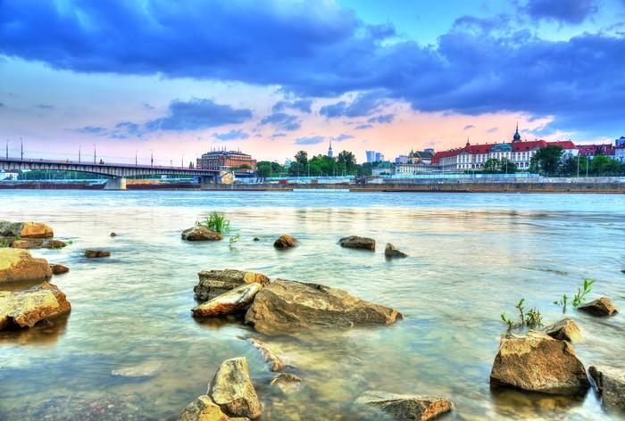 Vinylová Tapeta Pohled na Varšavě od river.HDR-vysokým dynamickým rozsahem - Témata