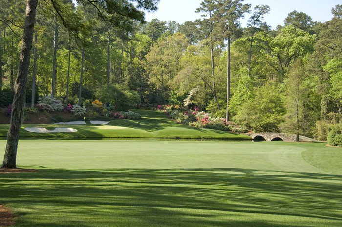 12th hole at augusta national wall mural pixers we