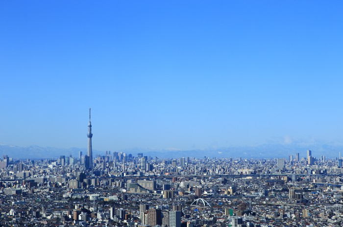 Vinylová Tapeta Ulicích Tokia a městská krajina Tokyo Sky Tree - Asijská města