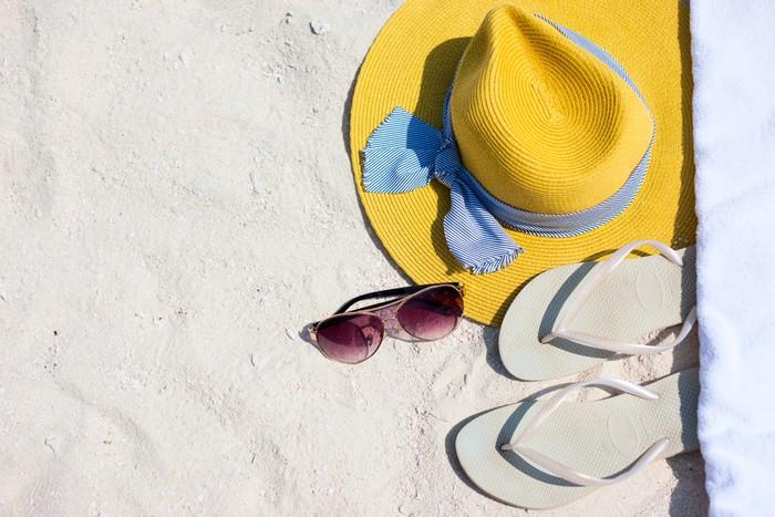 Vinylová Tapeta Beach dovolenou náležitosti - Zábava