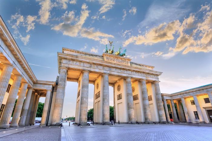 sunset at Brandenburg Gate of Berlin, Germany Wall Mural - Vinyl - European Cities