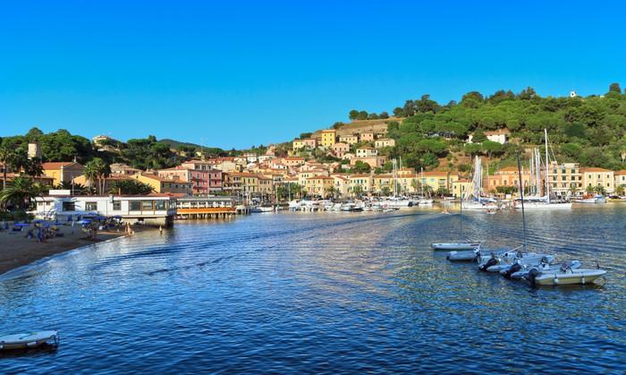 Vinylová Tapeta Ostrov Elba - Porto Azzurro - Evropa