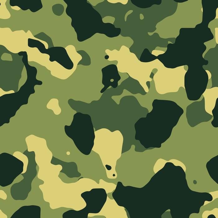 Vinylová Tapeta Green vojenské maskovací vzor bezešvé vektor - Témata