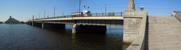 Vinylová Tapeta Panorama kamenného mostu (Riga, Lotyšsko) - Evropa