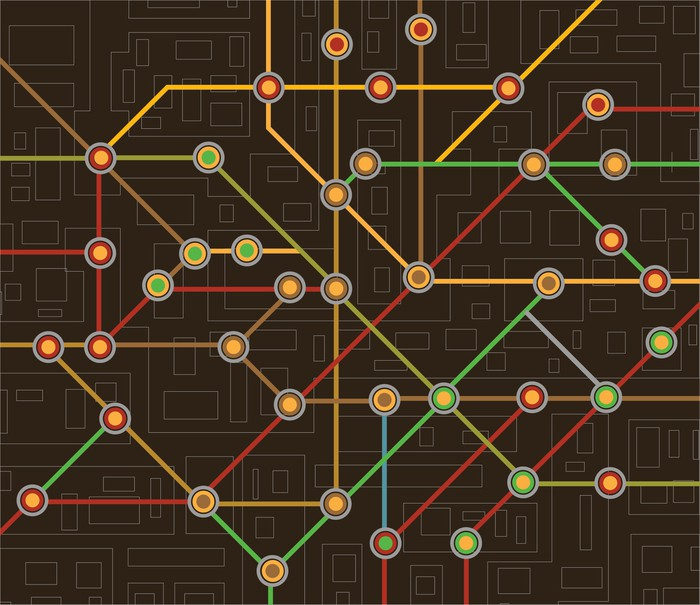 Subway map wall mural pixers we live to change subway map wall mural vinyl on the road sciox Choice Image