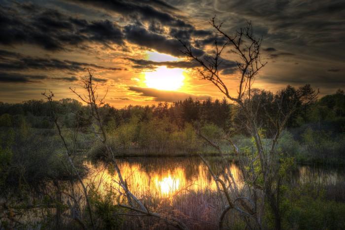 Vinylová Tapeta Západ slunce v HDR - Příroda a divočina