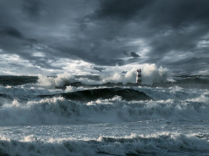 Vinylová Tapeta Atlantic bouře - Mořské majáky