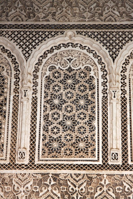 Detail from building in Marrakech Morocco Wall Mural Pixers We