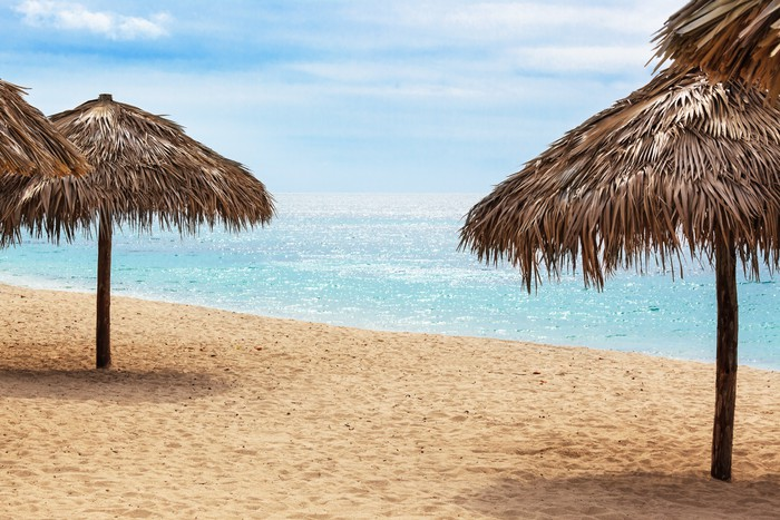 Vinylová Tapeta Beach za slunečného dne - Voda