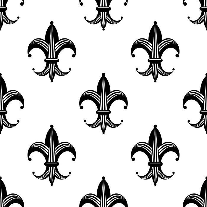 seamless stylized fleur de lys pattern wall mural pixers we
