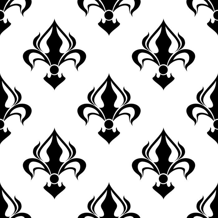 Vinylová Tapeta Bezešvé květinový vzor s abstraktní černé lilie - Pozadí