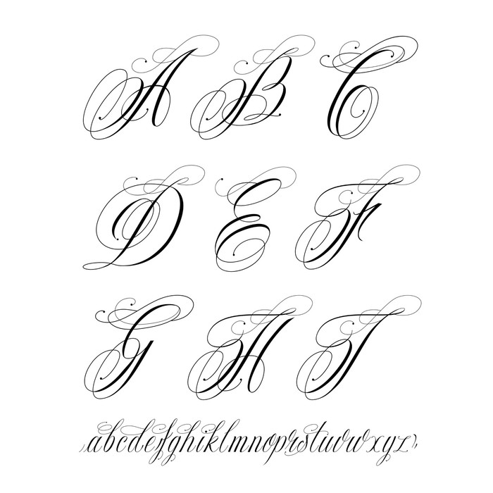 Tattoo alphabet wall mural pixers we live to change tattoo alphabet vinyl wall mural themes thecheapjerseys Images