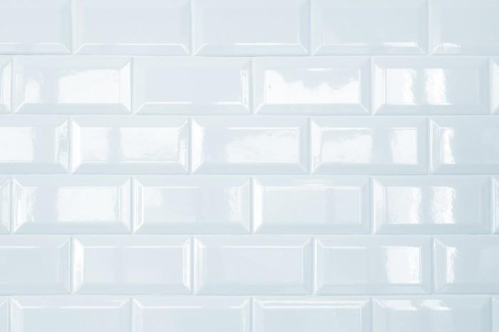 Carta da parati ceramica bianca muro di piastrelle di for Carta da parati muro mattoni