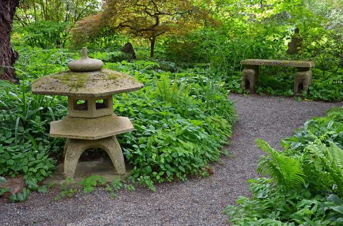 Tableau sur toile vert jardin japonais serein pixers - Tableau jardin japonais ...