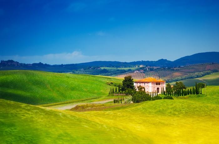 Poster belle maison en toscane paysage italie pixers for Acheter une maison en toscane