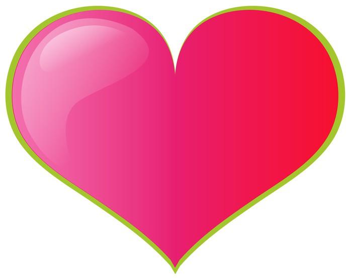 Vinylová Tapeta Růžové srdce - Značky a symboly