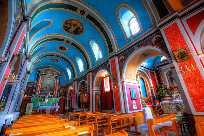 Papier Peint Vinyle Église orthodoxe grecque Intérieur - Syros, Grèce - Bâtiments publics