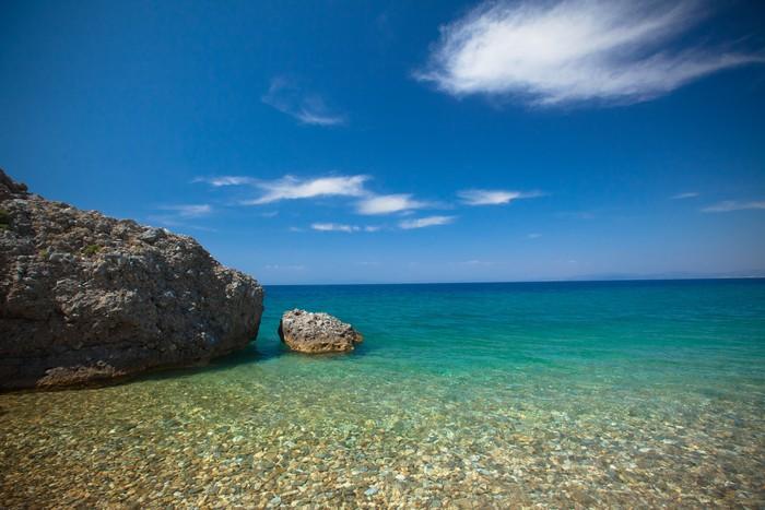 Vinylová Tapeta Pebble Beach - Národní park Dilek, Turecko - Voda