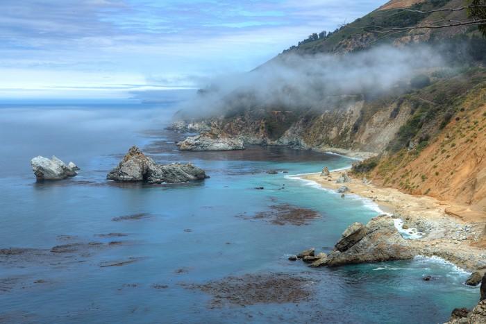 Vinylová Tapeta Cliffs vedle McWay Falls - Big Sur State Park, Kalifornie, USA - Voda