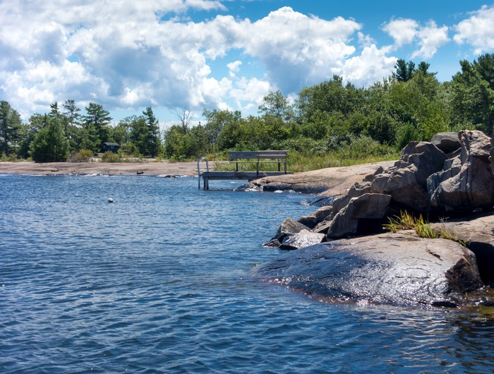 Vinylová Tapeta Skalní útvary na pobřeží, Georgian Bay, Tobermory, Ontario, - Jiné
