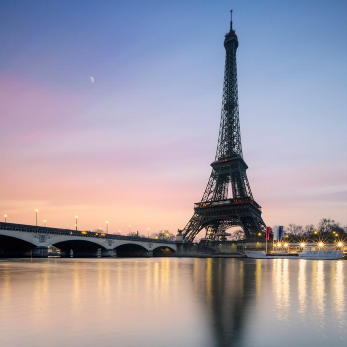 Papier Peint Vinyle Tour Eiffel Paris France - Thèmes