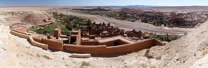 Vinylová Tapeta Panoramatický přehled vesnice Ait Benadu v Maroku - Afrika