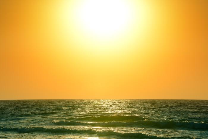Vinylová Tapeta Východ slunce nad oceánem - Voda