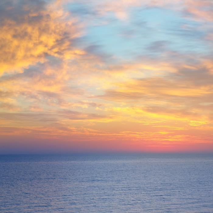 Vinylová Tapeta Nádherný západ slunce nad mořem - Voda