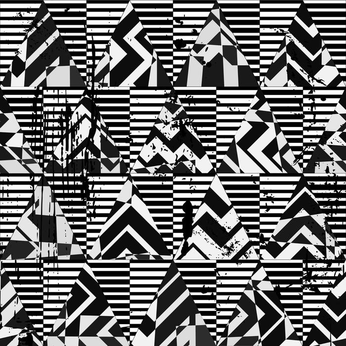 papier peint motifs motif de fond avec des triangles et des rayures noir pixers nous. Black Bedroom Furniture Sets. Home Design Ideas