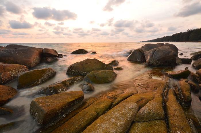 Papel pintado sunset paisaje marino pixers vivimos - Papeles pintados paisajes ...